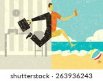 transition to vacation a... | Shutterstock .eps vector #263936243