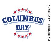 columbus day logo isolated on... | Shutterstock .eps vector #263955140