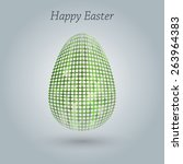 happy easter greeting banner.... | Shutterstock .eps vector #263964383
