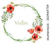 Watercolor  Vector  Wreath ...