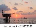 Production Platform Rig In Oil...