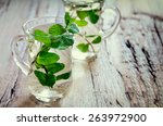 Stylized Photo Of Two Cups Wit...