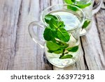 Stylized Photo Of Cups With...