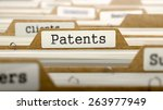 Patents Concept. Word On Folder ...
