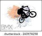 vector image of bmx cyclist | Shutterstock .eps vector #263978258