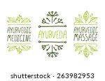 hand sketched typographic... | Shutterstock .eps vector #263982953
