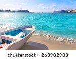 mallorca cala santa ponsa ponca ... | Shutterstock . vector #263982983