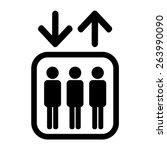 lift symbol | Shutterstock .eps vector #263990090