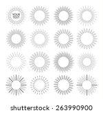 Retro Sun Burst Design Elements ...