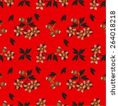 invitation or wedding card... | Shutterstock .eps vector #264018218