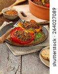 stuffed peppers. selective... | Shutterstock . vector #264027089