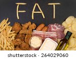 food containing fat. too much... | Shutterstock . vector #264029060