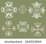 ornament and word framing... | Shutterstock .eps vector #264031844