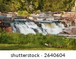 cascading water over sioux... | Shutterstock . vector #2640604