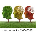 memory loss and brain aging due ... | Shutterstock . vector #264060908