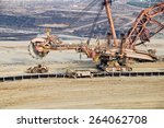 Giant Mining Excavator On The...