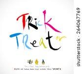 hand drawn halloween poster  ...   Shutterstock .eps vector #264067769