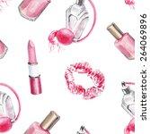 watercolor beauty pattern | Shutterstock . vector #264069896