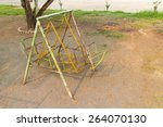 the old play equipment... | Shutterstock . vector #264070130
