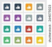 very useful flat icon of like...