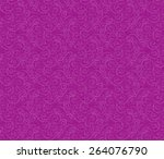 floral vintage seamless pattern ... | Shutterstock .eps vector #264076790