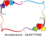 vector heart shape balloons... | Shutterstock .eps vector #264077900