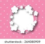 pink frame background | Shutterstock . vector #264080909