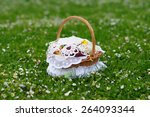 Small photo of Decorated Christmas Basket With Fruit, Gift basket, alleluia eve