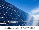 photovoltaic solar panels and... | Shutterstock . vector #264095063