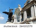 beautiful bellas artes' palace... | Shutterstock . vector #264101570