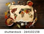 map of world made from...   Shutterstock . vector #264102158