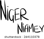 niger  niamey  hand lettered... | Shutterstock .eps vector #264110378