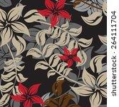 seamples flower illustration ...   Shutterstock .eps vector #264111704