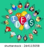 ideas thinking concept... | Shutterstock . vector #264115058