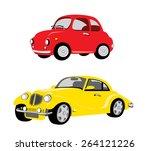 vintage cars   Shutterstock .eps vector #264121226
