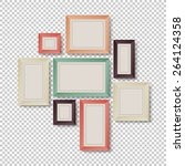 group of colorful frames on... | Shutterstock .eps vector #264124358