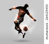 abstract soccer player jumping... | Shutterstock .eps vector #264125453