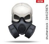 Human Skull With Respirator...