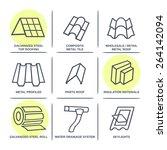 sale buildings materials  roof  ... | Shutterstock .eps vector #264142094