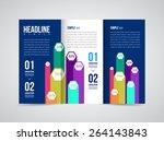 modern vector three fold... | Shutterstock .eps vector #264143843