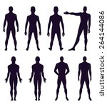 full length front  back... | Shutterstock .eps vector #264144086
