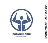 body building   vector creative ... | Shutterstock .eps vector #264156104