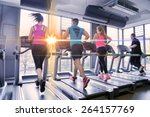 group of young people running... | Shutterstock . vector #264157769