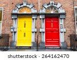 georgian doors in ireland | Shutterstock . vector #264162470