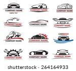 set of twelve car icons | Shutterstock .eps vector #264164933