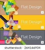 flat design vector infographic... | Shutterstock .eps vector #264166934