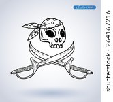 pirates sign  vector... | Shutterstock .eps vector #264167216