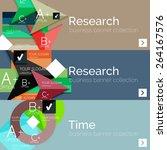 flat modern info banner set... | Shutterstock .eps vector #264167576