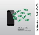 make money online with mobile ...   Shutterstock .eps vector #264168650