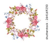 invitation card with floral...   Shutterstock .eps vector #264169250